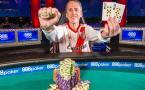 Andrés Korn, con su brazalete WSOP