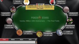 El Sunday Million de PokerStars congregó a más de 55.000 personas