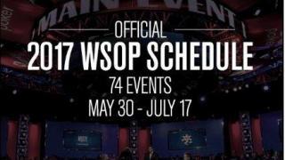 Calendario de eventos para las WSOP 2017