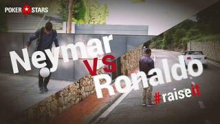 Neymar y Ronaldo, retándose en #RaiseIt