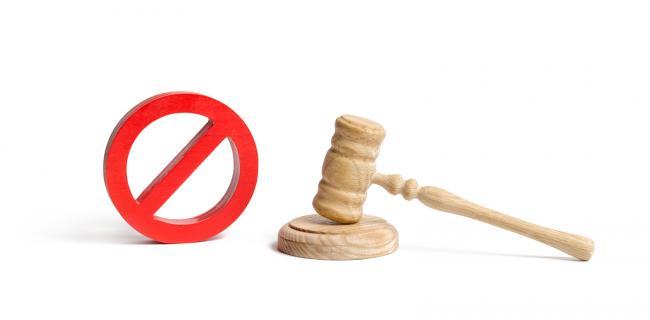 bigstock Judge s Gavel And No Symbol On 288103219