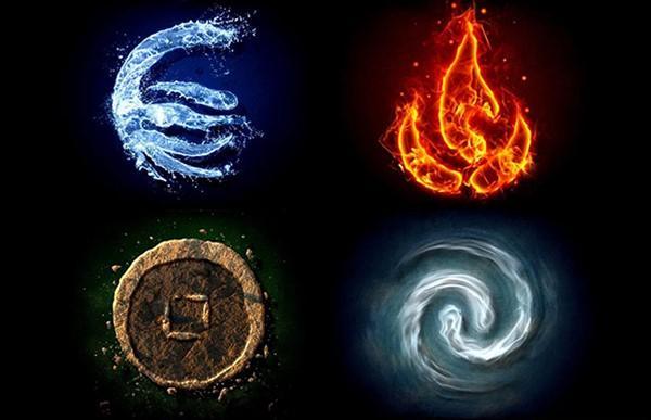 Los cuatro elementos en los que se agrupan los signos del zodiaco