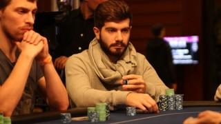 Javier Gómez en la mesa del European Poker Tour