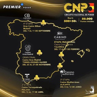 Mapa de las fechas y etapas del CNP 5.0