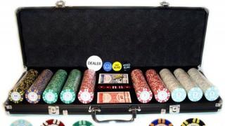 Maletin de fichas y set de juego de poker
