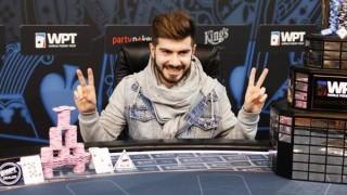 Javier Gómez celebra su victoria en el WPT Praga