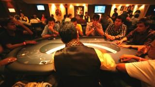 Una de las mesas de poker del Casino Pride en India.