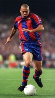 Ronaldo durante su etapa como futbolista en el FC Barcelona