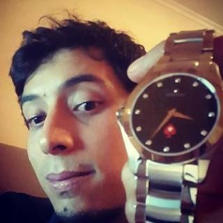 Diego Ventura, con su reloj de las SCOOP