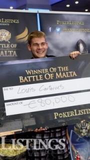 Cartarius con el cheque de campeón BOM 2013