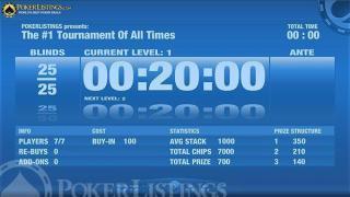 reloj torneo poker