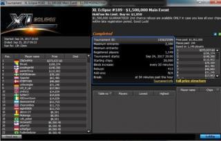 Lobby de 888poker en las XL Eclipse