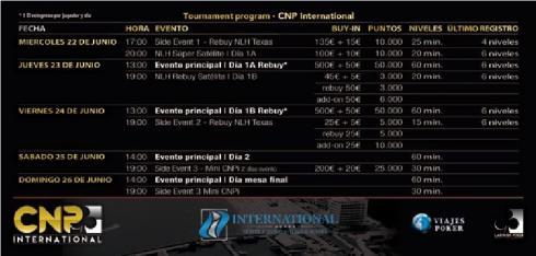 Calendario de eventos para el CNPi de Varna