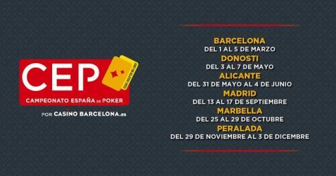 Fechas para el Campeonato de España de Poker 2017