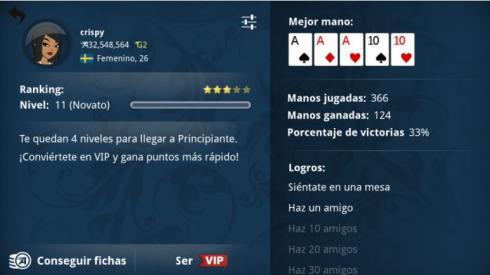 Appeak poker, perfil de jugador