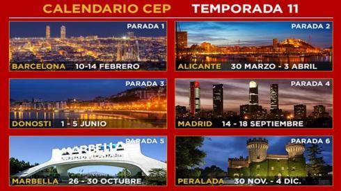 El Calendario del CEP 2016 constará de seis pruebas por toda España