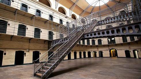 La prisión de Kilmainham Gaol es una de las más grandes de Europa.