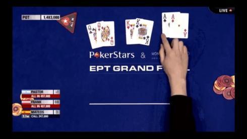 Las tres mejores manos iniciales del poker en la mesa