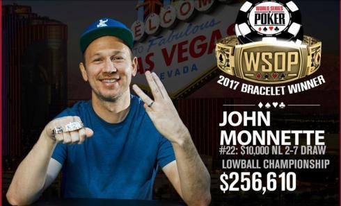 John Monnette ganó el Evento 22 de las WSOP 2017