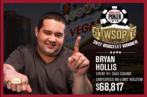 Bryan Hollis, primer ganador de las WSOP
