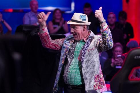 John Hesp, dando espectáculo en las WSOP