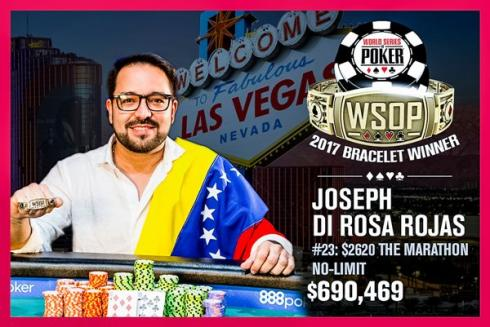 Joseph Di Rojas, primer brazalete WSOP