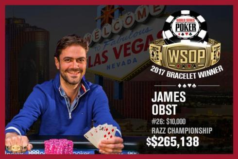 James Obst venció en las WSOP 2017