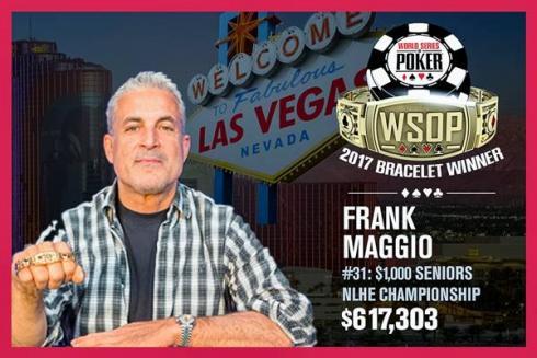 Frank Maggio, con el brazalete de los Seniors