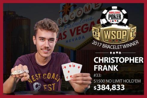 Christopher Frank venció en el Evento #33