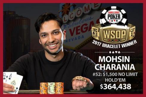 Mohsin Charania ganó su brazalete WSOP