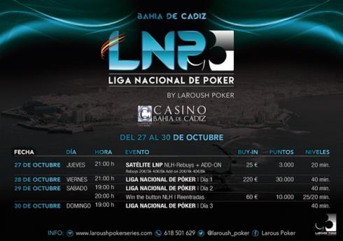 Calendario para la LNP de Bahía de Cádiz