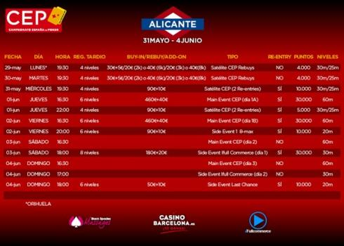 Calendario de eventos del CEP Alicante 2017