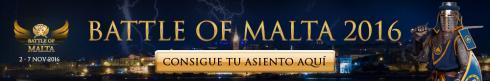 Consigue tu Paquete para la Battle of Malta 2016
