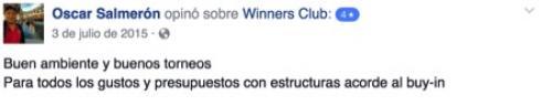 Óscar Salmerón opinó sobre el Winners Club