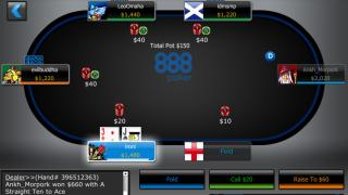 888 Poker Mobile ES Mesa