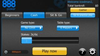 888 Poker Android Lobby